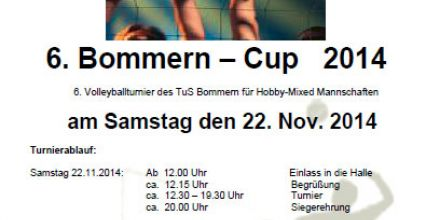 6. Bommern-Cup 2014