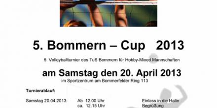 5. Bommern-Cup 2013