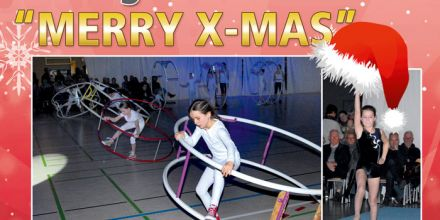 Kinder-Turn-Show Youngsters in Motion wünscht Merry-X-Mas